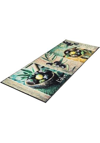 Küchenläufer, »L´Olive«, wash+dry by Kleen - Tex, rechteckig, Höhe 7 mm, gedruckt kaufen