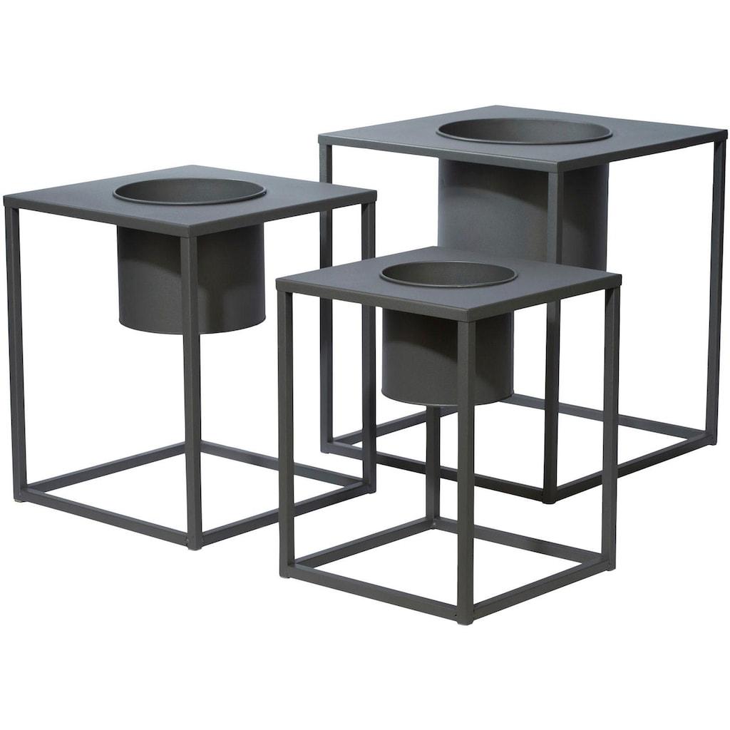 COUCH♥ Übertopf, (Set, 3 St.), Pflanzkübel lackiertes Metall, COUCH Lieblingsstücke