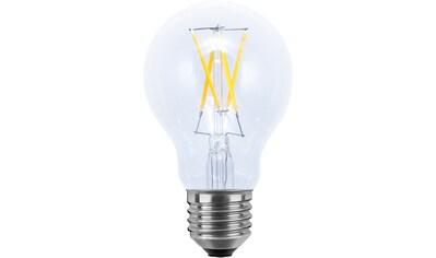 SEGULA LED-Leuchtmittel »Glühlampe«, E27, 1 St., Warmweiß, klare LED Glühbrine, LED Glühlampe, Vintage LED, LED Retrolook, klassiche Glühlampe, LED Leuchtmittel dimmbar, dimmbare LED Lampe kaufen
