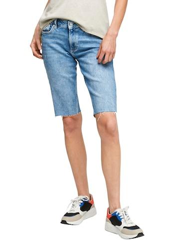 Q/S designed by Shorts, mit ausgefranstem Saum kaufen