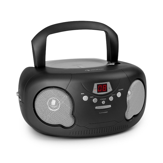 Auna CD Boombox CD-Player Bluetooth UKW AUX-IN LED »Bonbon«