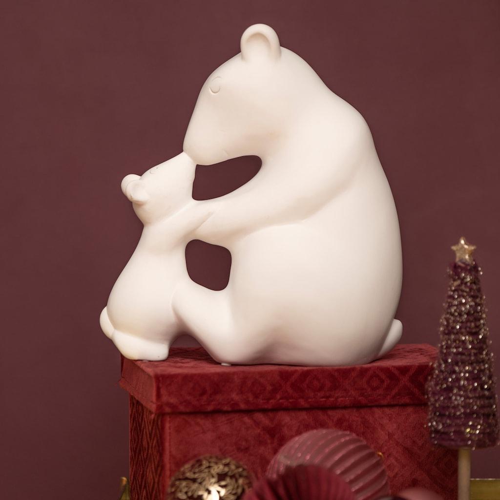 VALENTINO Wohnideen Tierfigur »Eisbär mit Kind und Schal« (1 Stück)