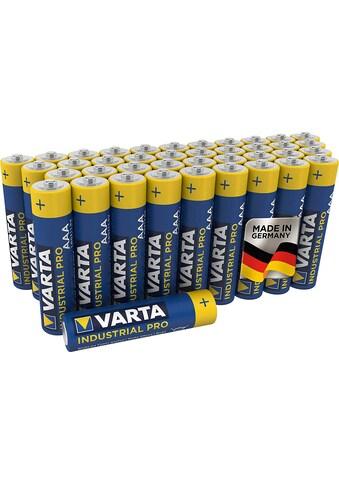 VARTA »Industrial Pro Batterie AAA Micro Alkaline Batterien LR3 umweltschonende Verpackung 40er Batterien Pack Made in Germany« Batterie kaufen
