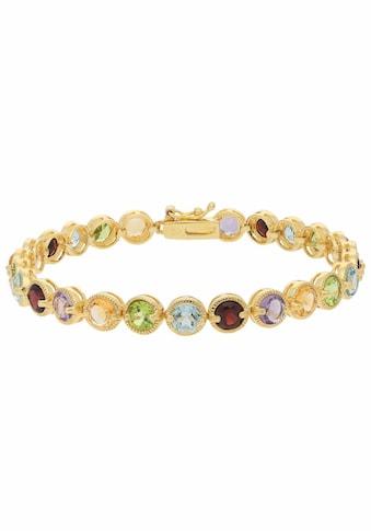 Firetti Armband, mit Amethyst, Granaten, Peridot, Citrin und Blautopas (beh.) kaufen