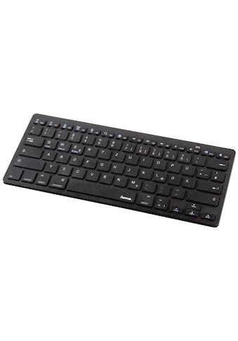 "Hama Bluetooth-Tastatur ""KEY4ALL X510"", Schwarz kaufen"