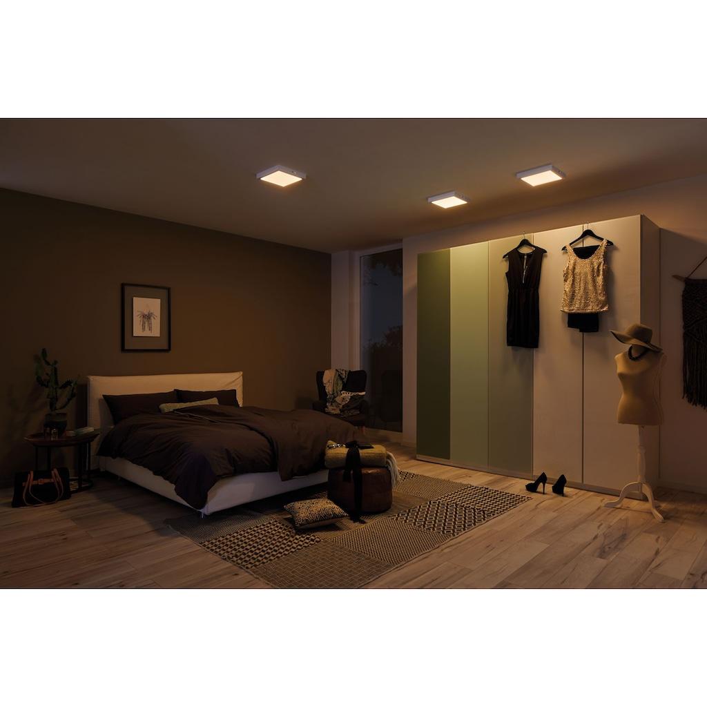 Paulmann LED Deckenleuchte »Carpo LED Panel Warmdimmfunktion Chrom matt 16W Metall«, Warmweiß-Extra-Warmweiß, LED Deckenlampe