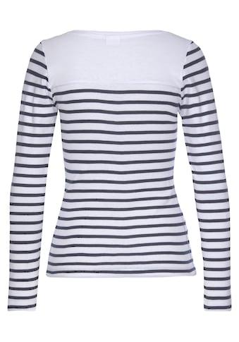 KangaROOS Langarmshirt, mit Marken-Schriftzug im Brustbereich kaufen