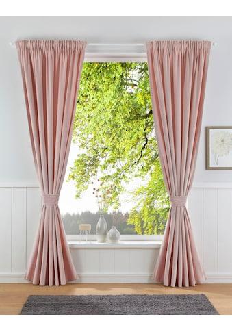 Leonique Vorhang »Velvet-Leonique«, Samt, inkl. Raffhalter kaufen