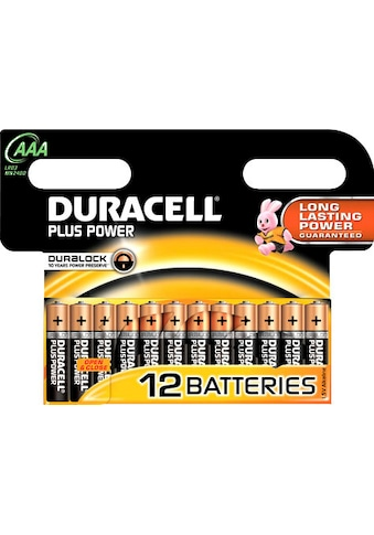 Duracell »Plus Power Micro AAA LR03« Batterie (1,5 V, 12 Stück) kaufen
