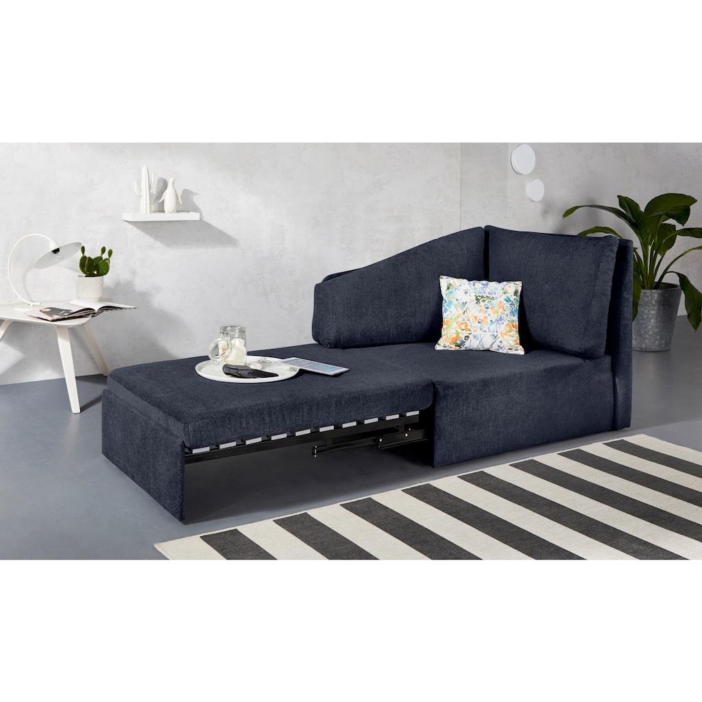 INOSIGN Relaxliege »Tiny Delta Relax-Recamiere«, aus Recamiere im Handumdrehen ein Schlafsofa incl. Lattenrost