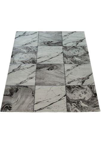 Paco Home Teppich »Kraft 521«, rechteckig, 17 mm Höhe, Kurzflor mit Marmor-Design,... kaufen