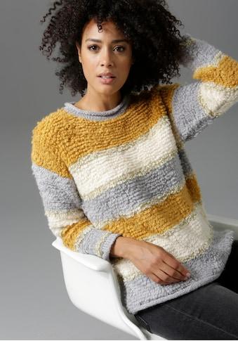 Aniston CASUAL Rundhalspullover, mit goldfarbenen Glitzerfäden kaufen
