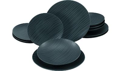 CreaTable Tafelservice »Waves«, (Set, 12 tlg.), ausdrucksstarkes Wellen-Relief kaufen