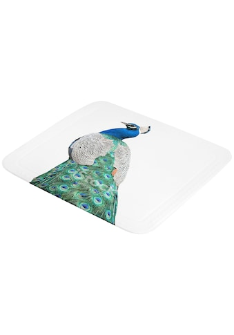 Kleine Wolke Duscheinlage »Pfau«, ruschhemmende Duscheinlage kaufen