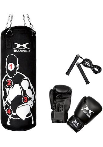 Hammer Boxsack »Sparring Pro«, (Set, 3 tlg., mit Boxhandschuhen-mit Sprungseil) kaufen