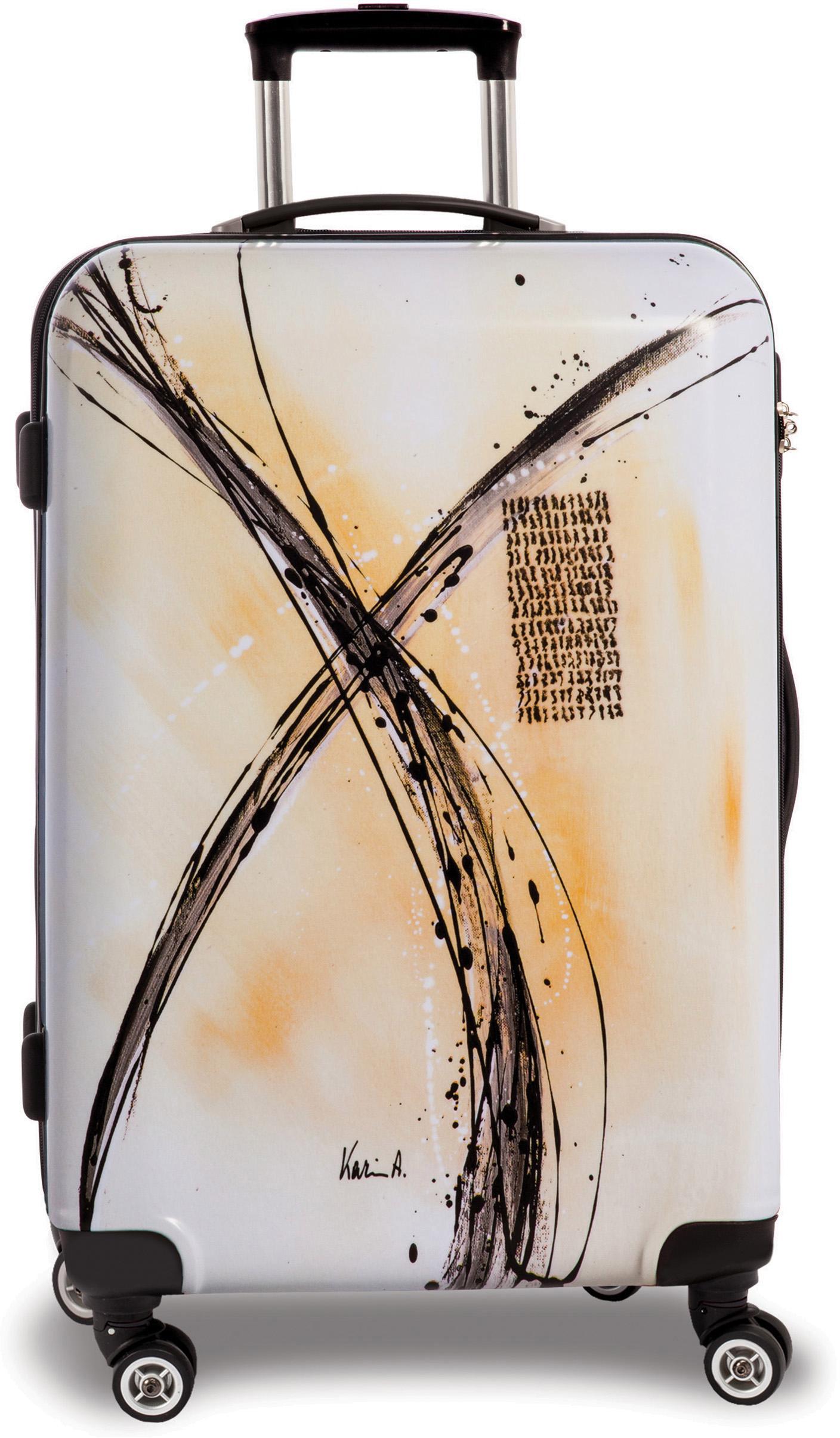fabrizio® Hartschalen-Trolley Creative style, 67 cm, Double X | Taschen > Koffer & Trolleys > Trolleys | Weiß | FABRIZIO