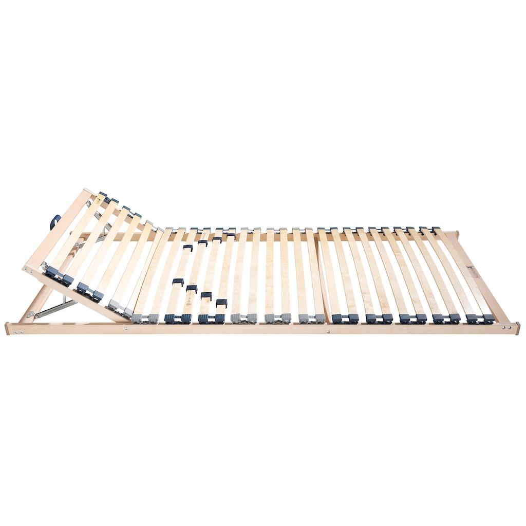 Älgdröm Lattenrost »Randsfjord«, (1 St.), 28 holmüberdeckende Federholz-Leisten in flexiblem Duo-Kappen gelagert, Kopfteil manuell verstellbar