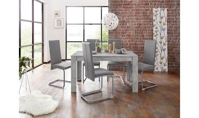 Homexperts Essgruppe »Nitro«, (Set, 7 tlg.), Tisch - Breite 140 cm + 6 Stühle kaufen