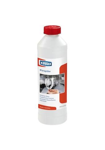 Xavax Klarspüler für Spülmaschinen, 500 ml, flüssig, Glanzspüler »trockenes, glänzendes Geschirr« kaufen