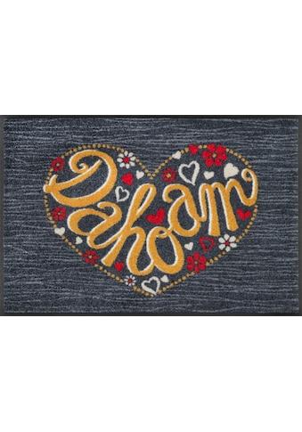 Fußmatte, »Dahoam«, wash+dry by Kleen - Tex, rechteckig, Höhe 7 mm, gedruckt kaufen