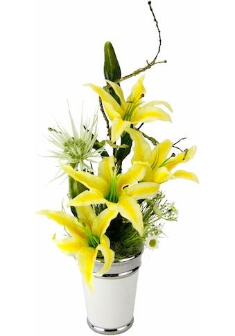 I.GE.A. Kunstpflanze »Arrangement Lilien in Topf« (1 Stück) kaufen