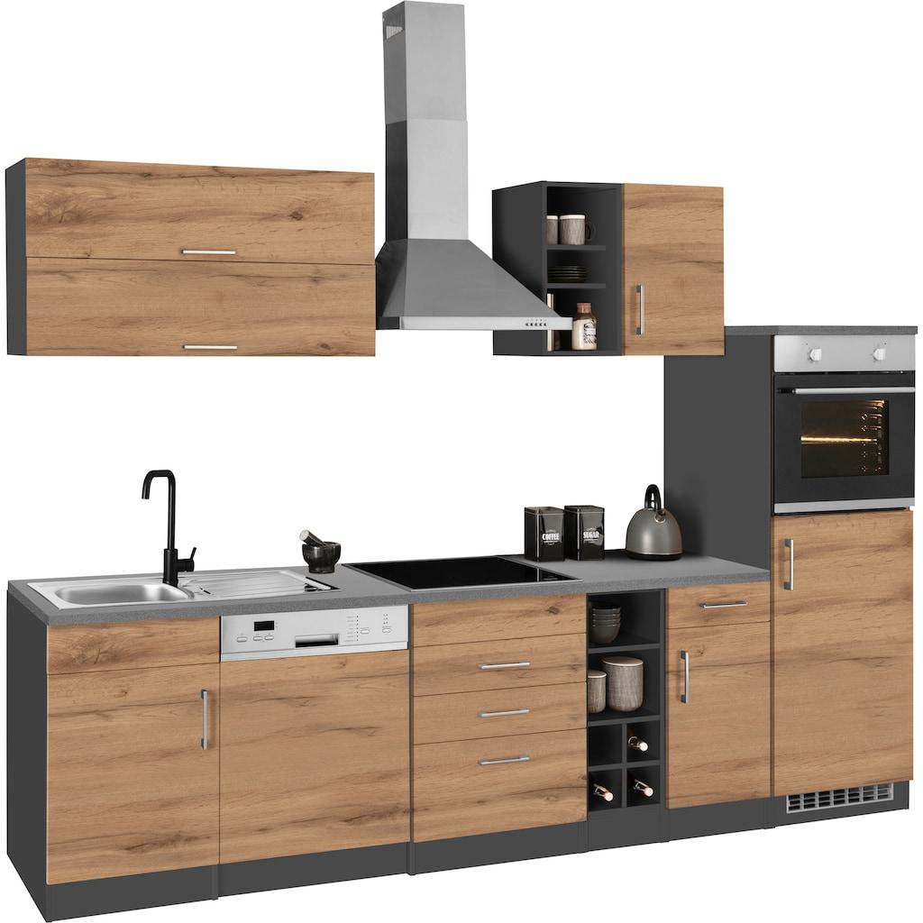 HELD MÖBEL Küchenzeile »Colmar«, ohne E-Geräte, Breite 300 cm