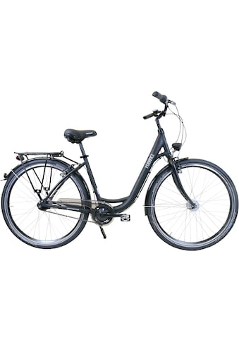 HAWK Bikes Cityrad »HAWK City Wave Easy Black«, 7 Gang, Shimano, Nexus Schaltwerk kaufen