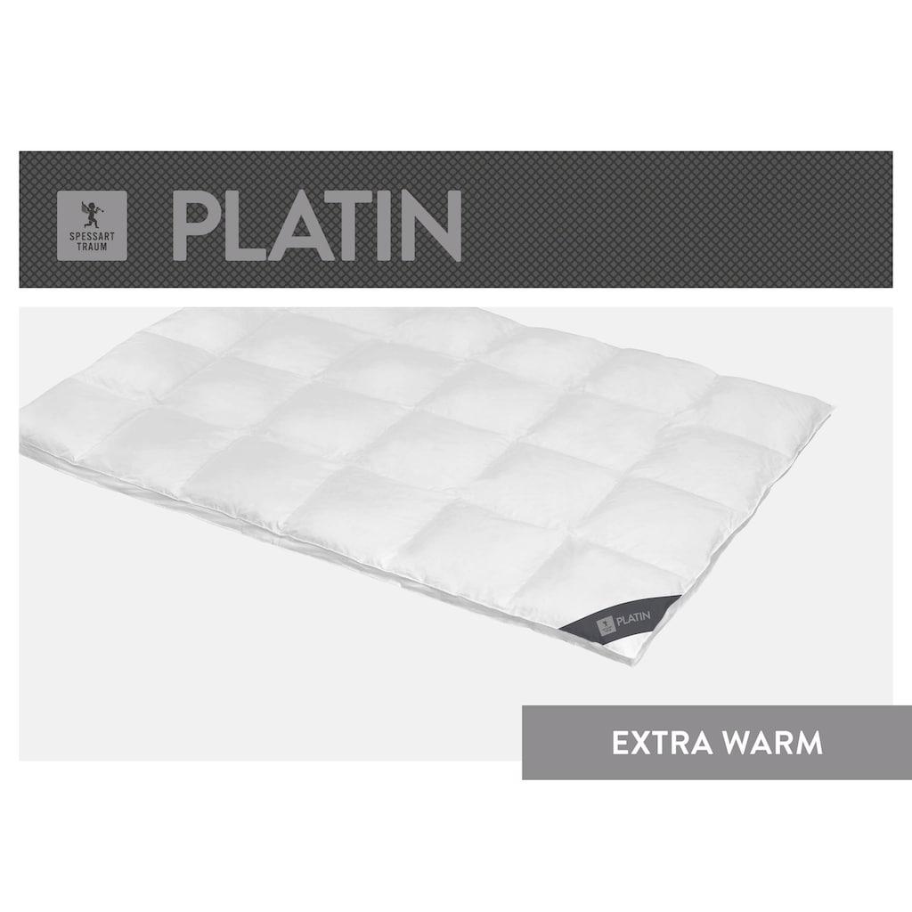 SPESSARTTRAUM Gänsedaunenbettdecke »Platin«, extrawarm, Füllung 100% Gänsedaunen, Bezug 100% Baumwolle, (1 St.), hergestellt in Deutschland, allergikerfreundlich