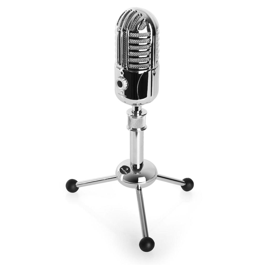 Auna USB Kondensatormikrofon silber A/D-Wandler Stativ Niere Studio »CM 280«