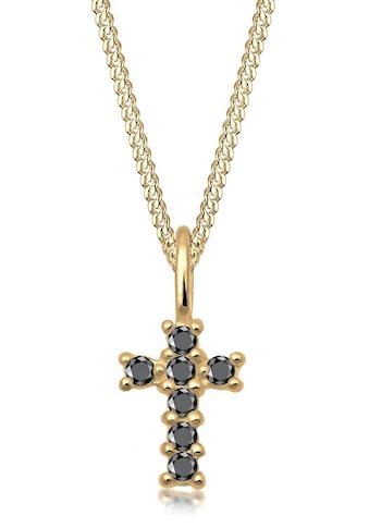 Elli Premium Kette mit Anhänger »Kreuz, 0102630218«, mit Diamanten kaufen