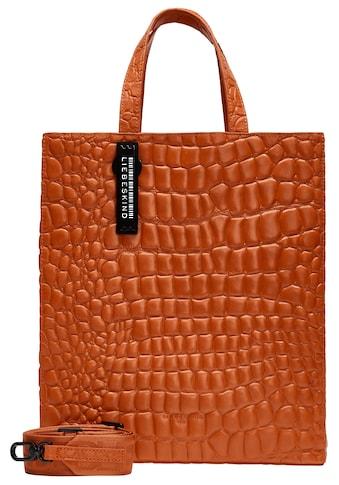 Liebeskind Berlin Henkeltasche »Kroko Paper Bag M«, mit modischer Reptil Prägung im Leder kaufen