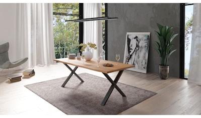 Homexperts Baumkantentisch »Lesley«, Breite 160 oder 200 cm, mit natürlich... kaufen