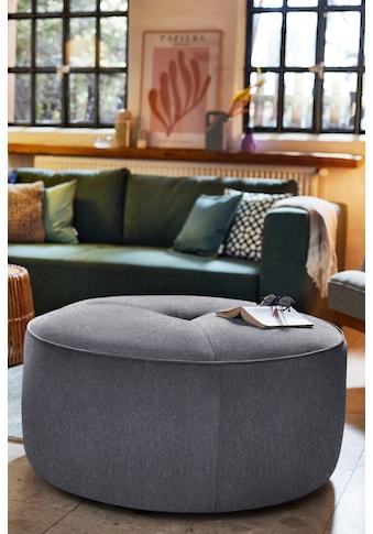 TOM TAILOR Pouf »DROP CHIC«, mit Kedernaht & Steppung im Sitz, ø 90 cm kaufen