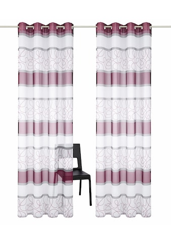 my home Gardine »Napala«, Vorhang, Fertiggardine, transparent kaufen