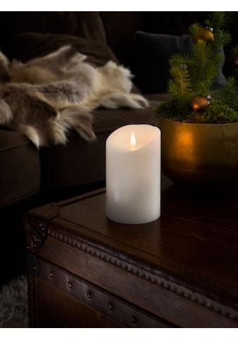 KONSTSMIDE LED-Kerze, LED Echtwachskerze, weiß, mit 3D Flamme, Ø 10 cm, Höhe: 16 cm kaufen