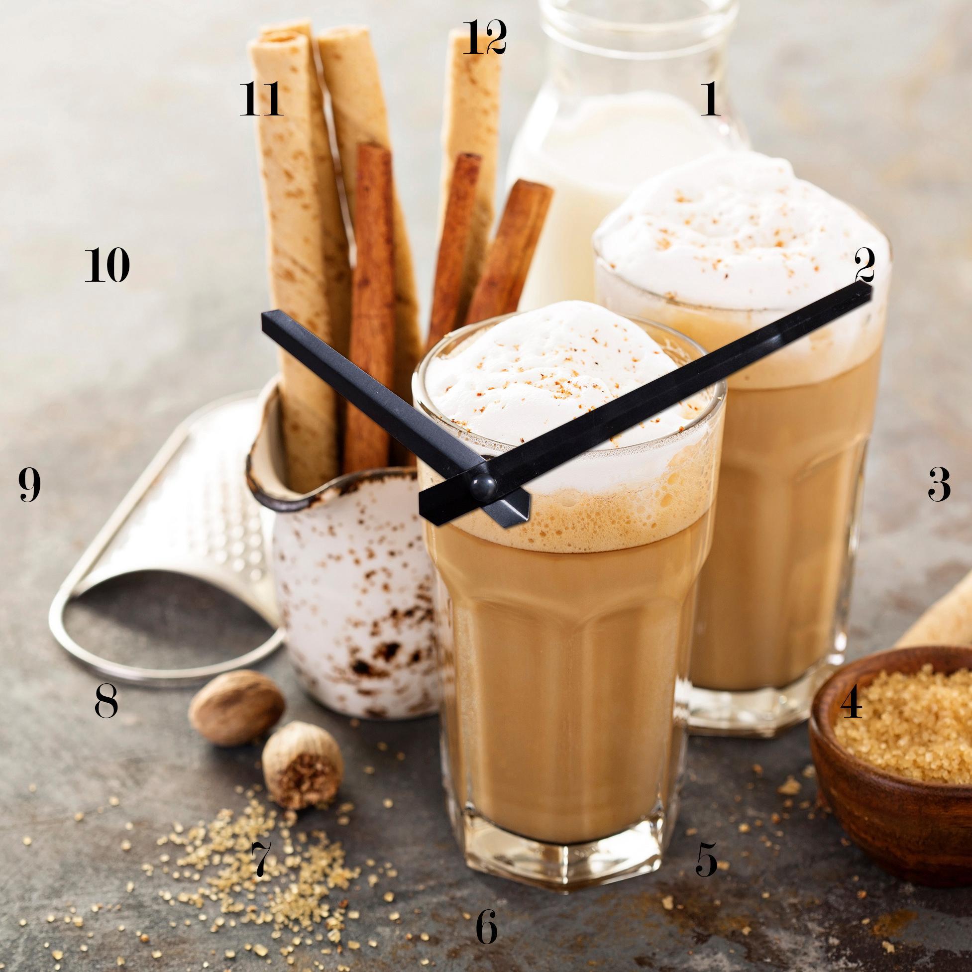 Wanduhr »Cappuccino« 25/25 cm | Dekoration > Uhren > Wanduhren | Braun | QUELLE