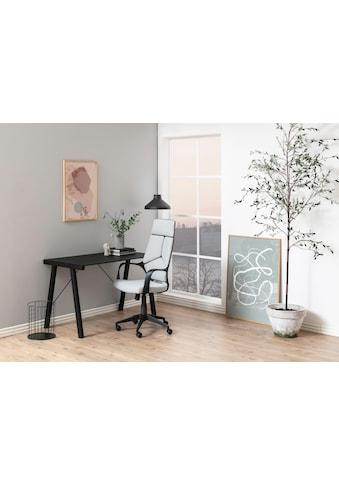 andas Schreibtisch »Tim«, schönes Metallgestell mit edler Glastischplatte, Breite 125 cm kaufen