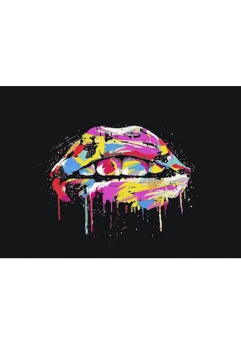 my home Leinwandbild »B. SOLTI / Colorful lips«, (1 St.) kaufen