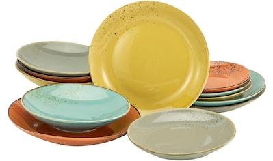 CreaTable Tafelservice »NATURE COLLECTION Spicy«, (Set, 12 tlg.), Naturfarben mit Sprenkeln kaufen
