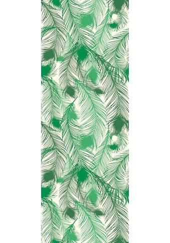 QUEENCE Vinyltapete »Federn - Grün«, 90 x 250 cm, selbstklebend kaufen
