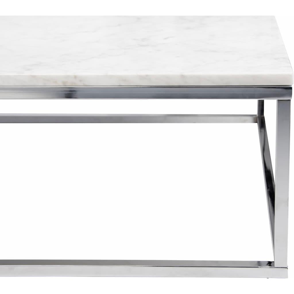 TemaHome Couchtisch »Prarie«, mit einer Marmor Tischplatte in unterschiedlichen Farbvarianten der Tischplatte und des Beingestelles, Breite 120 cm