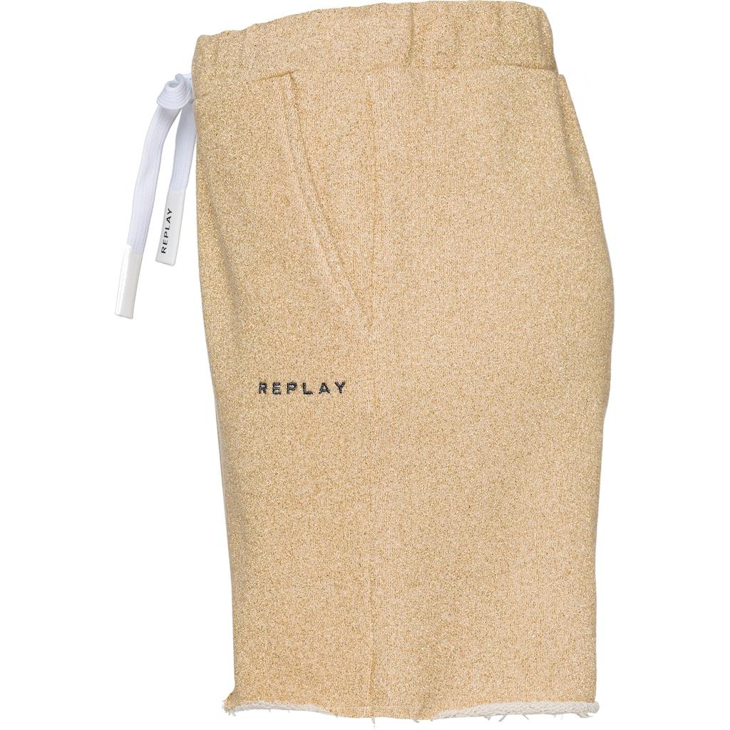 Replay Shorts, mit Lurex-Glitzer