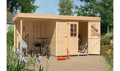Kiehn - Holz Set: Gartenhaus »Schüberg 2«, BxT: 446x226 cm, Anbaudach mit Rückwand und Fußboden kaufen