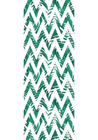 QUEENCE Vinyltapete »Muster - Grün«, 90 x 250 cm, selbstklebend kaufen