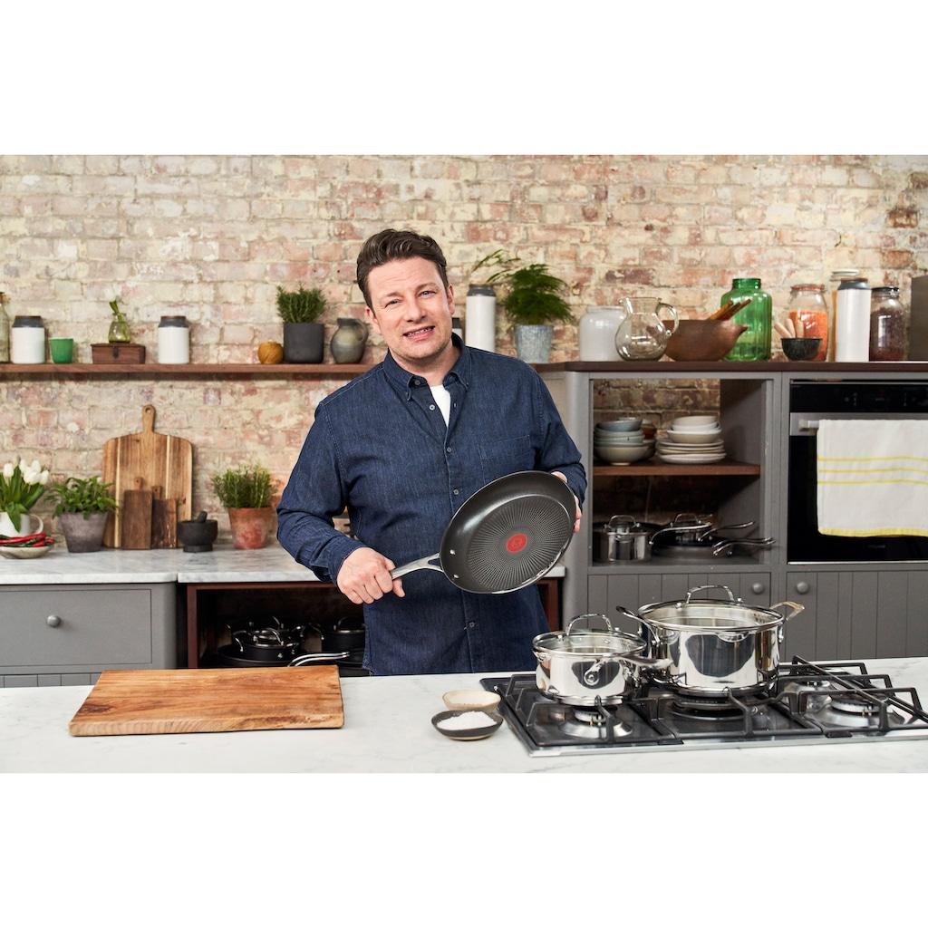 Tefal Pfannen-Set »Jamie Oliver Cook's Direct«, Edelstahl, (2 tlg.), Ø 24/28 cm, Induktion