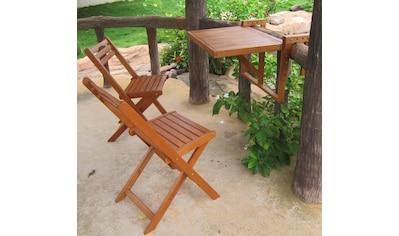 Garden Pleasure Balkonhängetisch »BERKELEY«, (Set, 3 St.), Eukalyptus, klappbar,... kaufen