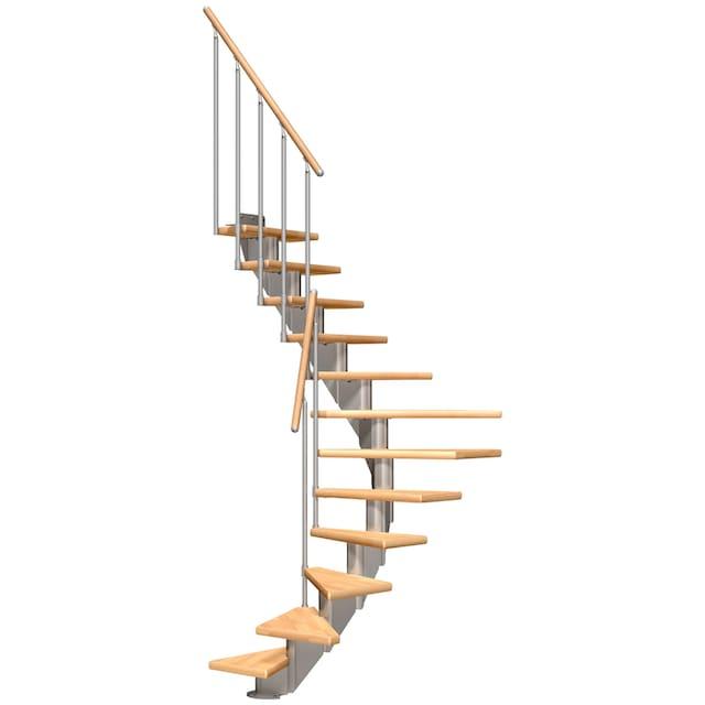 DOLLE Mittelholmtreppe »Frankfurt Buche 65«, bis 301 cm, Metallgeländer, versch. Ausführungen
