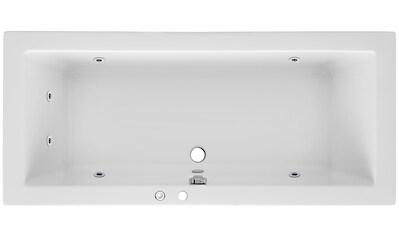 OTTOFOND Whirlpoolwanne »Cubic«, B/T/H in cm: 190/90/62,5; mit Whirlpool - System 1 kaufen