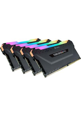 Corsair PC-Arbeitsspeicher »VENGEANCE® RGB PRO 32 GB (4 x 8 GB) DDR4 DRAM 3.200 MHz C16« kaufen