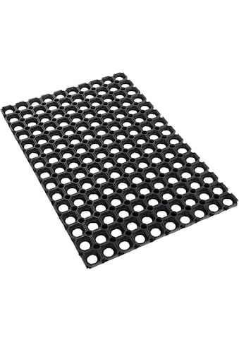 Fußmatte, »Gummi Ringmatte«, Andiamo, rechteckig, Höhe 15 mm, maschinell zusammengesetzt kaufen